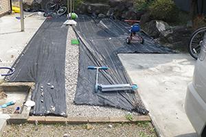 庭園リノベーションの一例 施工前